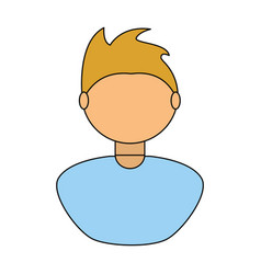 Young man faceless avatar vector