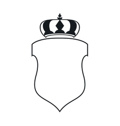 Crest with crown icon vector