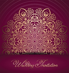 Decorative wedding invitation 0107 vector
