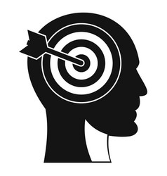 target in human head icon simple style vector image