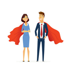 Business man and woman - modern flat design people vector