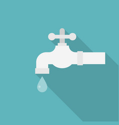 Faucet with droplet icon vector