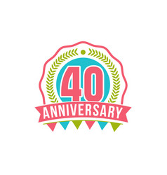 anniversary forty years number vector image