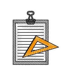 Clipboard paper with rule vector