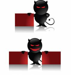 Devil toy and banner vector