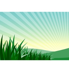 Grass and mountain vector