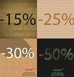 25 30 50 icon set of percent discount on abstract vector