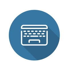 Laptop flat icon flat design vector