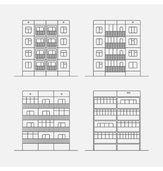Panel houses linear2 vector