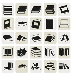 Black book simple icons set vector