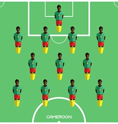 Computer game cameroon football club player vector