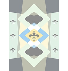 Pastel colored background with fleur de lis vector