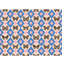 Vintage butterfly pattern vector