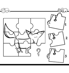 Puzzle activity coloring task vector