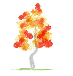 Autumn abstract tree vector image