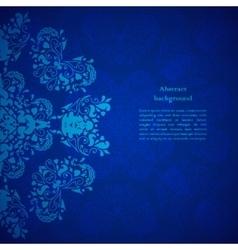 Blue floral background for presentation vector