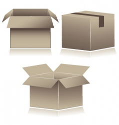 cardboard shipping boxes vector image vector image