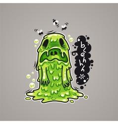 Cartoon Nausea Monster vector image