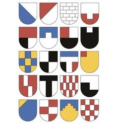 Colorful templates for coats of arms vector