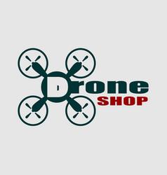 drone icon drone shop text vector image vector image