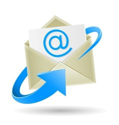 Email wrapped arrow vector