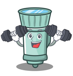 Fitness flashlight cartoon character style vector