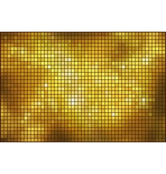 Golden mosaic background vector