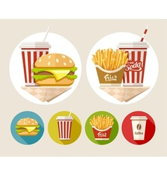 Hamburger french fries and vector image vector image