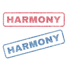 Harmony textile stamps vector