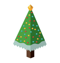 Isometric pine tree design vector