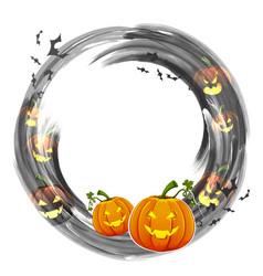 jack-o-lantern pumpkin in halloween night vector image