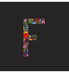 Letter f vector