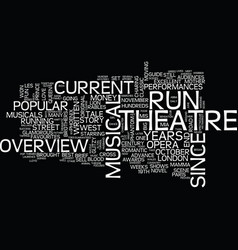 London s west end musicals text background word vector