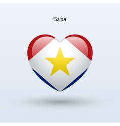 Love Saba symbol Heart flag icon vector image vector image