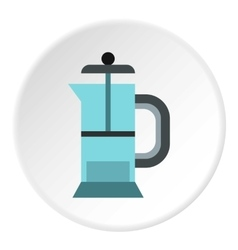 Manual juicer icon flat style vector