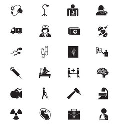 Medical solid icons 5 vector