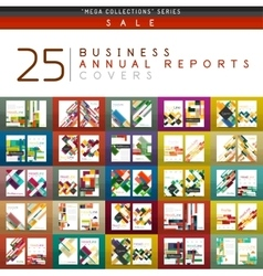 Mega collection of 25 business annual reports vector