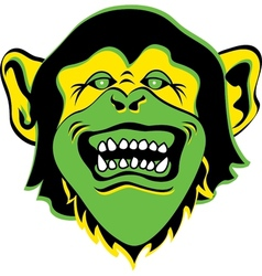 Monkey face logo vector image