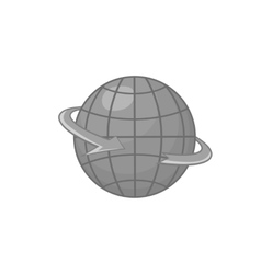 Planet icon black monochrome style vector image vector image