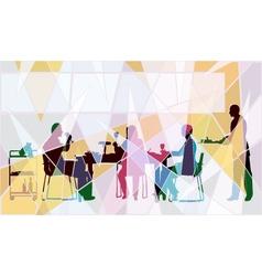 Restaurant mosaic vector image vector image