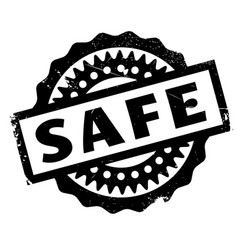 Safe rubber stamp vector