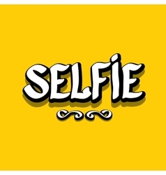 Taking Selfie Photo on Smart Phone image vector image