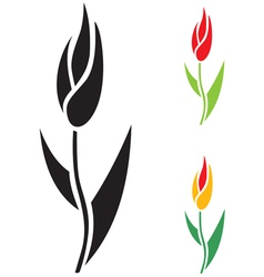 tulip stilized vector image