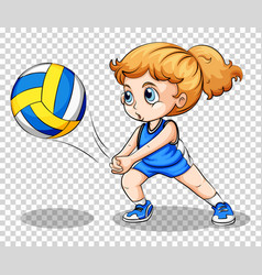 Volleyball player on transparent background vector