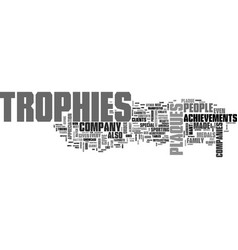 Why are trophies and plaques important text word vector