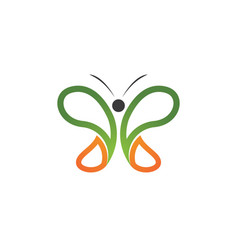 - butterfly conceptual simple colorful vector image vector image