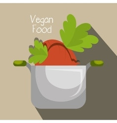 Vegan cooking pot nutrition food vector