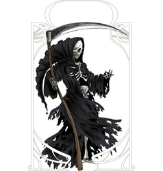 Death art nouveau vector