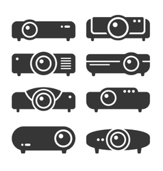 Projector icon set on white background vector