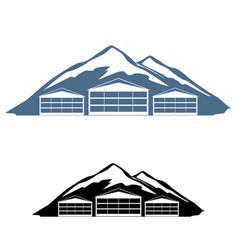 Logo ski resort vector